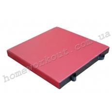 Мат гимнастический 100x100x10 (красный)