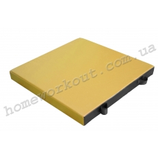 Мат гимнастический 100x100x10 (желтый)