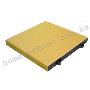 Мат гимнастический 120x80x10 (желтый)