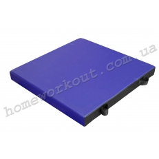Мат гимнастический 100x100x10 (синий)