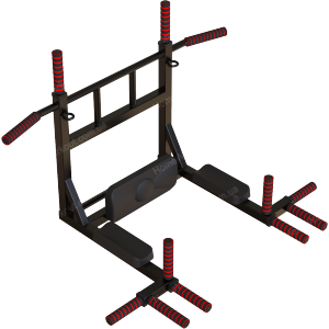 Комплекс турник-брусья 10в1 (Black) ПОЛИУРЕТАН