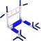 Комплекс турник-брусья 10в1 (White) Всепогодный Полиуретан