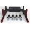 Тренажер турник-брусья 5в1 (черный) Всепогодный Полиуретан