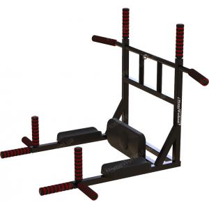 Комплекс турник-брусья 8в1 черный ПОЛИУРЕТАН