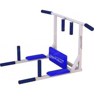Тренажер турник-брусья 4в1 (бело-синий)